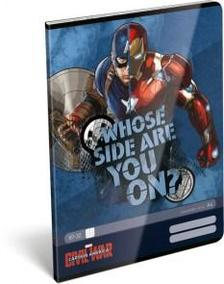 7222 - Füzet tűzött A/4 kockás Captain America Whose Side 16449702