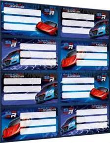13162 - Füzetcímke íves Super Racecar Mix 17514603