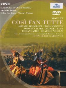 MOZART - COSI FAN TUTTE / GARDINER  DVD
