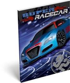 13317 - Notesz papírfedeles A/7 Super Racecar Blue Thunder 17519501