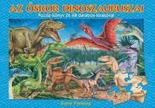 Az őskor dinoszauruszai puzzle-könyv