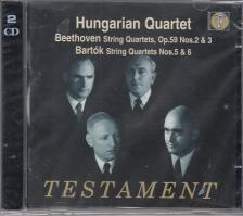 BEETHOVEN, BARTÓK - STRING QUARTETS 2CD HUNGARIAN QUARTET