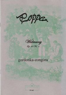 POPPER - WIDMUNG OP.41 NO.1 GORDONKÁRA ÉS ZONGORÁRA, REPRINT KIADÁS