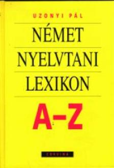 UZONYI - NÉMET NYELVTANI LEXIKON