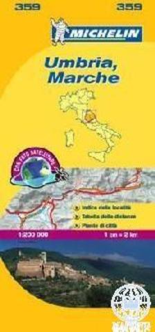Michelin - Umbria, Marche térkép - 2013