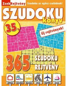 CSOSCH KIADÓ - ZsebRejtvény SZUDOKU Könyv 36.