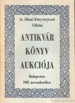 - Antikvár könyvek katalógusa XVI. [antikvár]