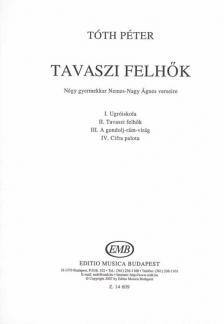 Tóth Péter - TAVASZI FELHŐK, NÉGY GYERMEKKAR NEMES-NAGY ÁGNES VERSEIRE