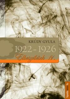 KRÚDY GYULA - Krúdy elbeszélések_IV_1922-1926 [eKönyv: epub, mobi]