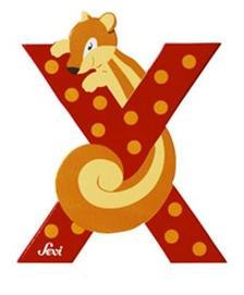"""SEVI - Sevi fa betű állatos """"X"""""""
