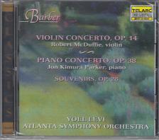 BARBER - CONCERTOSFOR VIOLIN & PIANO - SOUVENIRS CD YOEL LEVI