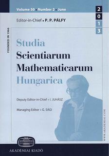 Pálfy P.P., Juhász I., Sági G. - Studia Scientiarum Mathematicarum Hungarica [antikvár]