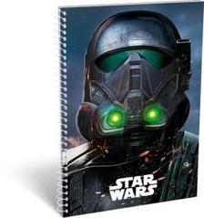 12312 - Füzet spirál A/5 kockás Star Wars Rogue Death Trooper 16497110