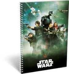 12314 - Füzet spirál A/5 vonalas Star Wars Rogue One Team 16497203