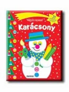 Napraforgó Könyvkiadó - VÁGJ ÉS RAGASSZ! - KARÁCSONY - PIROS