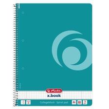50015702 - Spirálfüzet A4 80 lapos kockás Color Blocking caribbean turquoise