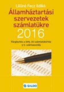 Liliné Fecz Ildikó - Államháztartási szervezetek számlatükre kiegészítés 2016