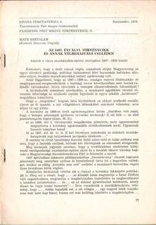 Máté Bertalan - Az 1907. évi XLVI. törvénycikk és annak végrehajtása Cegléden [antikvár]