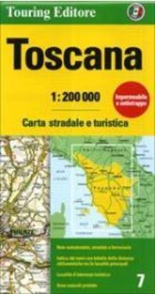 TCI - Toszkána régiótérkép 2016 1:200.000 (TCI)