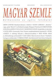 MAGYAR SZEMLE - 2016. AUGUSZTUS