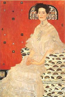 Pannónia Nyomda Zrt. - Gustav Klimt képeslap - Bildnis Fritza Riedler/Fritza Riedler portréja, 1906