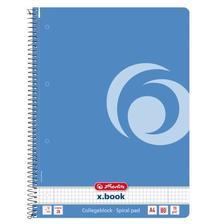 50015689 - Spirálfüzet A4 80 lapos kockás Color Blocking baltic blue, lyukasztott, perforált