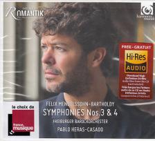 MENDELSSOHN - SYMPHONIES NOS 3&4,CD