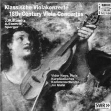 STAMITZ/SPERGER - KLASSISCHE VIOLAKONZERT 18TH CENTURY VIOLA CONCERTOS CD
