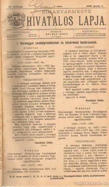 BALOGH JÁNOS - Biharvármegye hivtalos lapja 1906. (teljes) [antikvár]