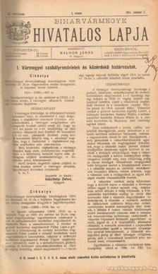 BALOGH JÁNOS - Biharvármegye hivatalos lapja 1911. (teljes) [antikvár]