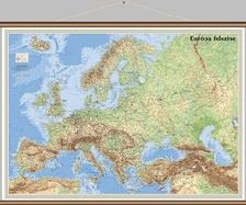 - EURÓPA FELSZÍNE 1:8300000 FALITÉRKÉP - FALÉCES WANDI -