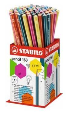 160/72-1HB - STABILO pencil 160 grafit ceruza HB, 72 darabos vegyesen töltött mini kínáló