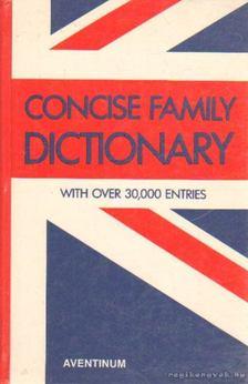 Concise Family Dictionary [antikvár]