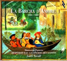 CACCINI, MARINI, SCHEIDT,DURÓN - LA BARCHA D`AMORE 1563-1685 CD SAVALL, FIGUERAS, HESPÉRION XXI