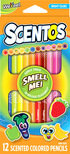 - Scentos Illatos színes ceruza 12 db - Élénk színek