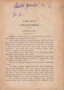 Daudet, Alphonze - Tarasconi Tartarini rendkivüli kalandjai [antikvár]