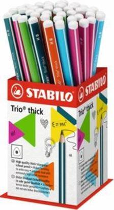399/48-1HB - STABILO Trio thick vastag háromszögletű grafitceruza HB, 48 darabos vegyes display