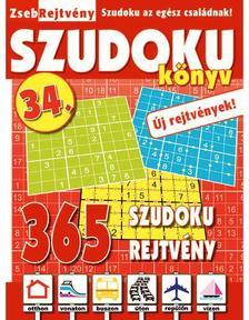 CSOSCH KIADÓ - ZsebRejtvény SZUDOKU Könyv 34.