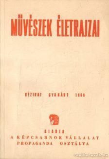 Művészek életrajzai (1960) [antikvár]