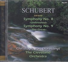 SCHUBERT - SYMPHONY NO.8,9 CD