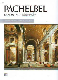 PACHELBEL - CANON IN D VARIATIONS ON THE THEME FROM THE CELEBRATED FOR PIANO (WILLARD A. PALMER)