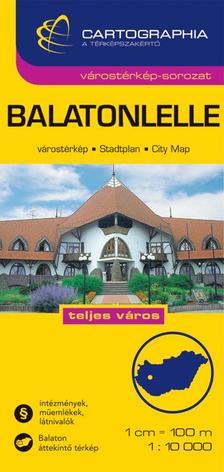"""Cartographia Kiadó - BALATONLELLE - VÁROSTÉRKÉP 1:10000 CARTOGRAPHIA -""""SC"""""""