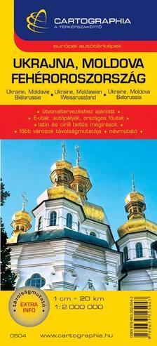 Cartographia Kiadó - UKRAJNA, MOLDOVA, FEHÉROROSZORSZÁG AUTÓTÉRKÉP -