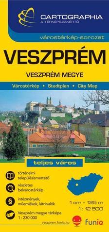 Cartographia Kiadó - VESZPRÉM VÁROSTÉRKÉP -