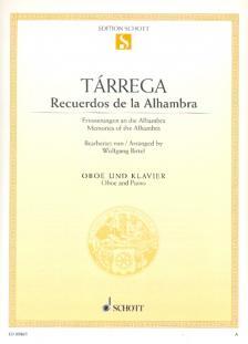 TARREGA - RECUERDOS DE LA ALHAMBRA FÜR OBOE UND KLAVIER BEARBEITET VON WOLFGANG BIRTEL