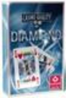Cartamundi - Diamond szimpla bridge kártya, piros hátlappal