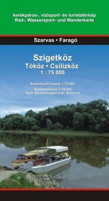 - SZIGETKÖZ - TÓKÖZ-CSILÍZKÖZ - TÚRISTATÉRKÉP 1:75000