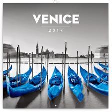 SmartCalendart Kft. - PG Venice, grid calendar 2017, 30 x 30 cm