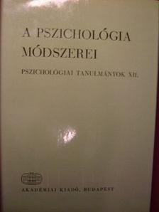 DR. LÉNÁRD FERENC - A pszichológia módszerei [antikvár]