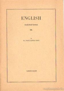 Bíró Lajos Pál - English Analytical System III. [antikvár]